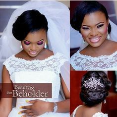 Absolutely beautiful!  Makeup by @beautyandthebeholdermakeover  #bride #bridalinspiration #weddings #idonigeria