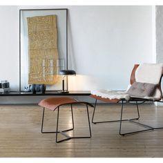 Walter Knoll Cuoio Lounge + Hocker Sessel