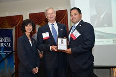 #2013 SJ #Entrepreneur recognition... In photo: Lyn Kremer, publisher, Philadelphia Business Journal, J. Jeffrey Fox, CEO, Source4Teachers, Kevin Bush, president, Source4Teachers