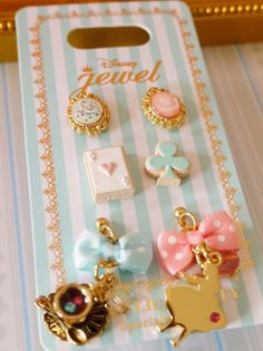 New Disney Store Japan Alice Pierced earrings 6pcs. Angelic Pretty Jewelry