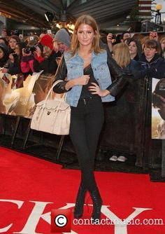 Millie Mackintosh does uber-chic with her cute denim jacket and lace up ankle boots