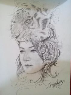 My sketch.queen of tebo.done by.horilyonz.13