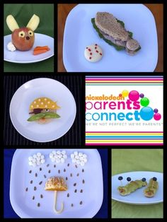 This site has some cute ideas for kids snacks and the presentation makes it fun!