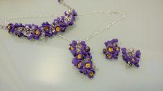 Deliziosa parure sui toni del violetto e del giallo ...meravigliosa summer idea!