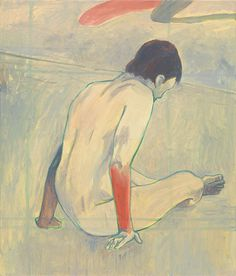 Jan Vanriet 'The Bather - Red Arm' oil-on-canvas-70-x-60-cm-2015