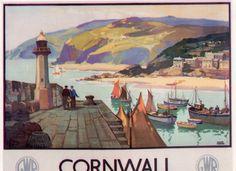 Cornwall travel postcard