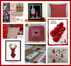 An amazing array of RED themed goodies. Knitting Projects, Knitting Patterns, Arts And Crafts, Paper Crafts, Knit Wear, Red Riding Hood, Stitch Markers, Little Red, Knits