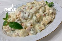 muhtesem-yogurtlu-koz-biberli-patates-salatasi Greek Dishes, Potato Salad, Stuffed Peppers, Chicken, Cooking, Ethnic Recipes, Food, Per Diem, Cuisine