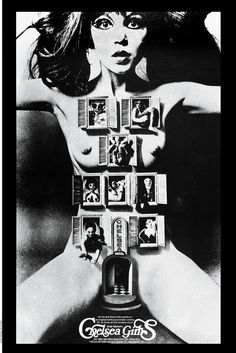 """Infamous """"Chelsea Girls"""" poster by Alan Aldridge for the Andy Warhol film of the same name."""
