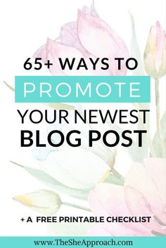 Blogging tips: looking for ideas on where to promote your blog posts and get more traffic to your blog? Get my free printable list and grow your blog today! Blogging tips for beginners. Blog traffic advice. Get more page views. Make money blogging. Free checklist. The S