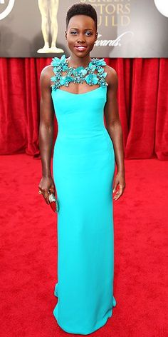 Lupita Nyong'o SAG Awards 2014 Red Carpet Arrivals
