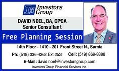 You don't have to have alot of money to start planning for the future. You just have to start planning! David Noel BA CPCA - Investors Group Financial Services Inc. Is a genuine advisor and planner with strong integrity!