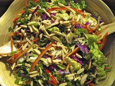 Cooper's Hawk Asian slaw recipe- dressing needed 1 tsp more sugar. Asian Coleslaw, Slaw Recipes, Healthy Recipes, Weekly Recipes, Fun Recipes, Copycat Recipes, Vegetable Recipes, Drink Recipes, Cooking