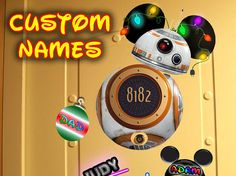 Christmas BB-8 Disney Cruise Door Magnet, BB-8 free to download with custom names!