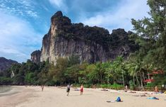 Railay Beach in Thailand Railay Beach, Monument Valley, Transportation, Thailand, Nature, Travel, Naturaleza, Viajes, Destinations