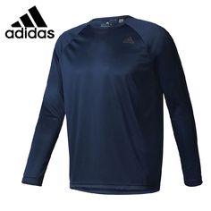 Original New Arrival 2017 Adidas D2M LONGSLEEVE Men's T-shirts Long sleeve Sportswear #Affiliate