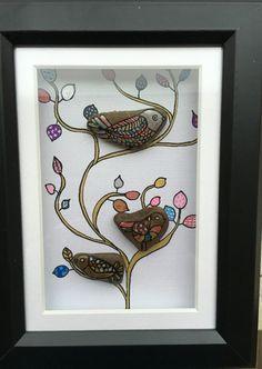 Vogels birds.  facebook.com/wenspresent Stone art