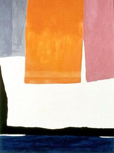 Helen Frankenthaler, The Human Edge, 1967 | pink orange abstract art