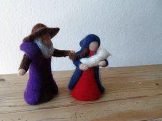 Weihnachtsfiguren - Heilige Familie 10cm reservierrt - ein Designerstück von Waschbrett bei DaWanda