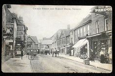 Church Street, Newent, Gloucestershire, looking west to Market Place c.1910