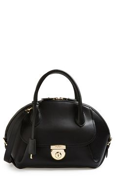 Salvatore Ferragamo 'Vivette' Leather Dome Satchel available at #Nordstrom