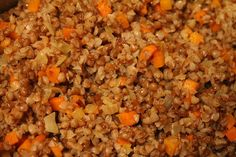 buckwheat with carrots and onions - delicious easy way to use buckwheat!  i sauteed with a little butter and was yummy!