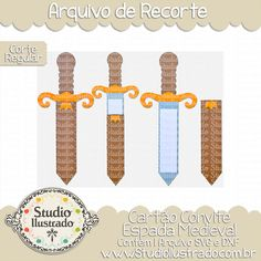 Little King, Cricut, Party Fiesta, Invitations, Studio, Medieval Swords, Lego Birthday, Knight Party, Paper Toys
