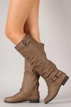 Coco-1X Buckle Riding Knee High Boot - BOOT on InStores