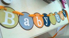 Baby boy banner for baby shower.