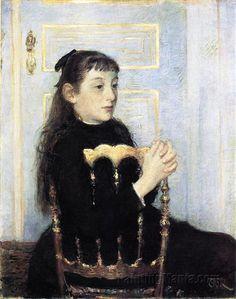 Portrait of Camille van Mons  Theo van Rysselberghe