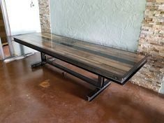 This handmade industrial Steel & Reclaimed Wood Conference Table from Industrial Evolution Furniture is the ultimate war room conference table. Reminiscent of commercial architectural construction from the height of the industrial age, this boardroom table will be the perfect place for your team to analyze, strategize, and plan your business' future. It is also ideal for when your team lets off some steam – great for lunch meetings, company functions. The base of the Steel & Reclaimed...