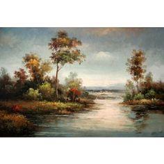 Real Handmade Landscape Oil painting Landscape Art, Landscape Paintings, Landscapes, Oil Paintings, Sunset, Design, Handmade, Paisajes, Frames