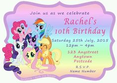 24 personalised magnetic butterfly shoe birthday party invitations magnetic birthday invitations my little pony pack of 24 kids party filmwisefo Choice Image