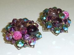 Vintage Mid Century Glass Cluster Bead and by labaublesandbags, $24.00
