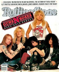 Guns N' Roses | November 17, 1988 (Courtesy of @Michelle Rolling Stone)