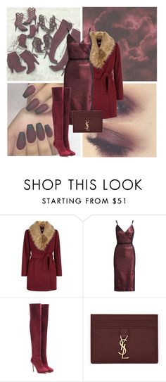 """Sin título #974"" by evedoll ❤ liked on Polyvore featuring New Look, Cinq à Sept, Jimmy Choo and Yves Saint Laurent"