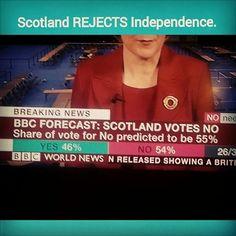 Justin's Political Corner • BREAKING: The Scotland Independence Referendum has failed, will remain in the United Kingdom. #Scotland #IndyRef #ScotlandReferendum #ScotlandDecides