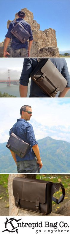 The Journeyman Messenger- your trusty sidekick on any adventure! www.intrepidbags.com/products/journeyman-messenger