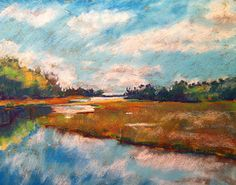 """Mild Medium#5 citi-scape/landscape of your home Pastel Landscape Drawing 8"""" x 10"""""""