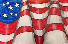 Op Art American Flag - 5th or 6th grade art project