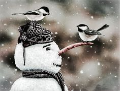 Он что неживой? Молчит и молчит... Make a snowman and have hot chocolate with your children.