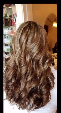Dark blonde with caramel highlights ❤️