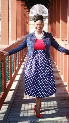 Trenaras Daily Treasures: The Vintage inspired DIY Midi skirt    If You know...