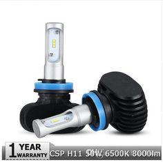 H11 LED Car Headlight CREE CSP Chips 50W 6500K 8000lm Fog Light Bulb Auto Headlamp for Audi BMW Ford Toyota Honda Hyundai - $54.99