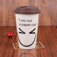 High Quality 350ml Ceramic Coffee Mugs With Heat Resistant Silicone Lid Milk Mugs, JSF-Mugs-013