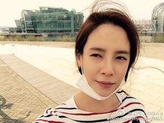 04.10.15 weibo update - 明媚的春天与漂亮的staff一起自行车出游..!!耶..!  화창한 봄날 이쁜우리스텝들과 자전거 나들이..!! 야호..!!