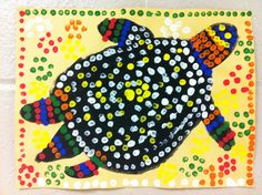 Australia Project for Elementary Kiddos- aboriginal dot art for kids templates - Google Search