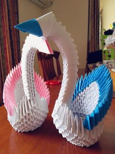 These swans was my first 3D creation