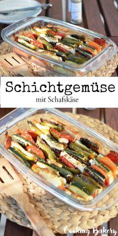 Schichtgemüse mit Schafskäse - Healthy Recepies - COOKING BAKERY Healthy Recepies, Bakery, Tacos, Cooking, Ethnic Recipes, Food, Healthy Recipes, Cooking Recipes, Kochen