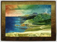 Marjan Kluepfel: Fabric Artist-Quilt Teacher - Landscapes Gallery.....................LOVE her colours and fiberscapes.